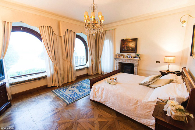 Hình ảnh phòng ngủ của căn biệt thự.
