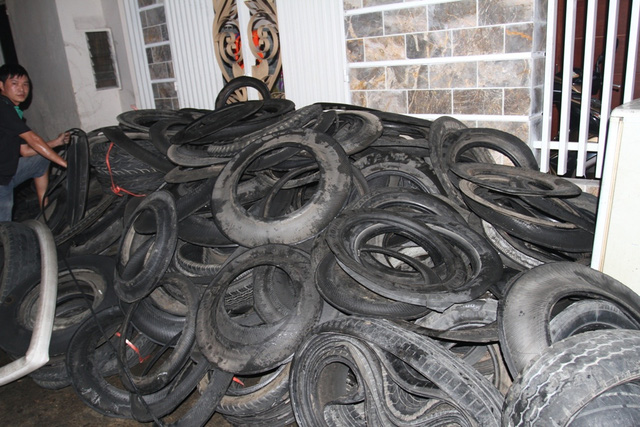 Số lốp được vận chuyển ra bên ngoài