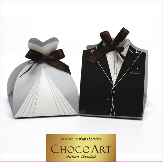 Hộp quà được thiết kế với phong cách nhẹ nhàng, hiện đại của đám cưới.