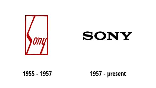 Sony chỉ giản lược các đường nét và phông chữ trên logo của mình. (Ảnh: Zing)