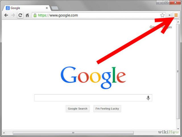 Mở trình duyệt Google Chrome và nhấn vào Settings ở góc trên bên phải màn hình