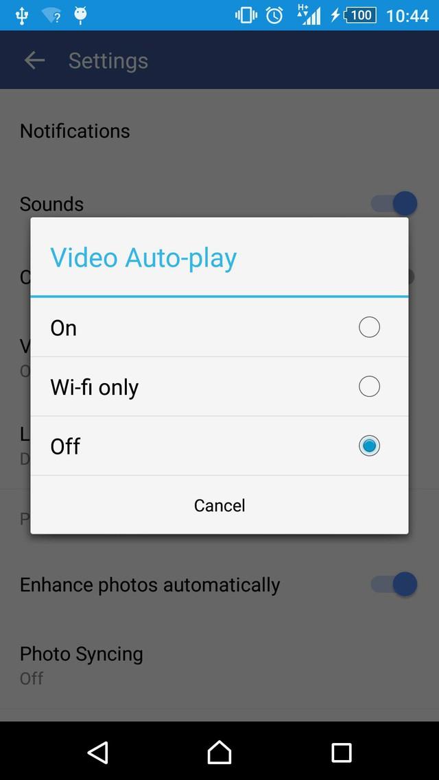 Cách tắt chế độ Facebook tự động phát video trên Android