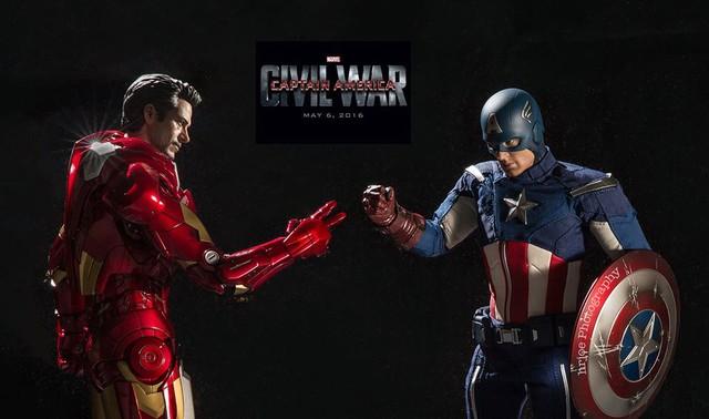Iron Man và Captain America trong cuộc chiến oẳn tù tì
