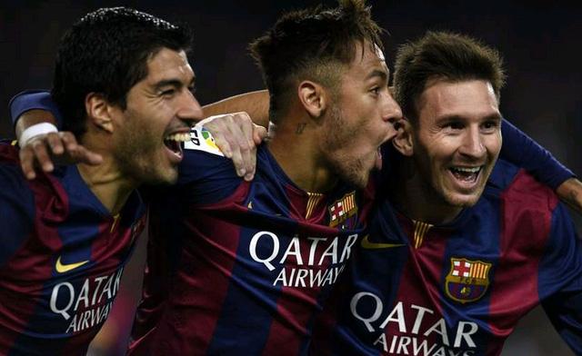 Barcelona 3-1 Atletico: Neymar và Suarez (cú đúp) lên tiếng biến bàn thắng của Mandzukic trở nên không còn nhiều ý nghĩa. Qua đó, Barca đưa ra lời cảnh báo đanh thép về khả năng soán ngôi vô địch.