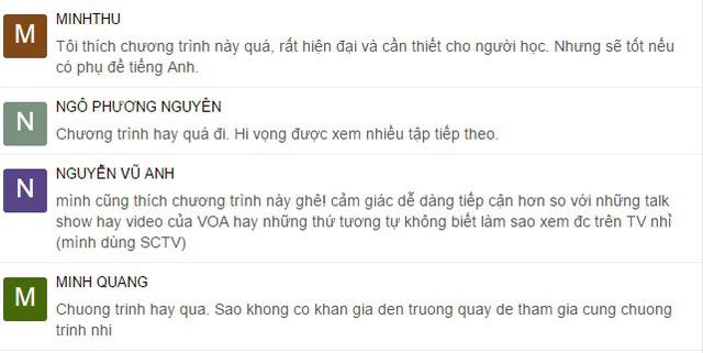 Những phản hồi tích cực của khán giả về chuyên mục 8 IELTS trên kênh VTV7