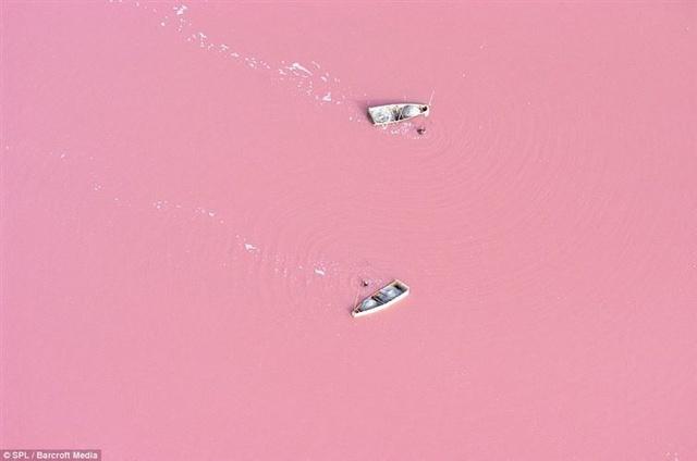 Một trong những hồ nước có màu hồng tự nhiên độc đáo nhất thế giới là hồ Retba, cách thủ đô Dakar Senegal chừng 35 km về phía Đông Bắc. Nước hồ có màu hồng dâu ngọt ngào, lạ mắt và là điểm du lịch hút khách.