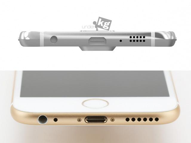 Thiết kế cổng kết nối của chiếc Samsung Galaxy S6 khá giống với iPhone 6