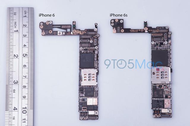 So sánh bảng mạch của iPhone 6 và iPhone 6S