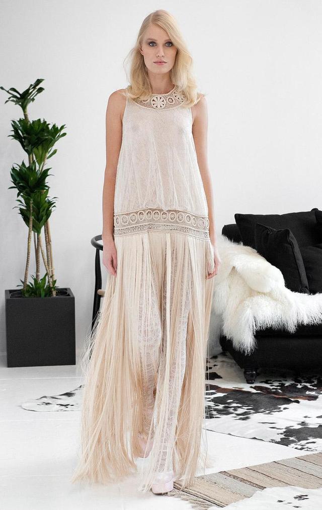 Phong cách áo cưới vintage nhẹ nhàng của Houghton