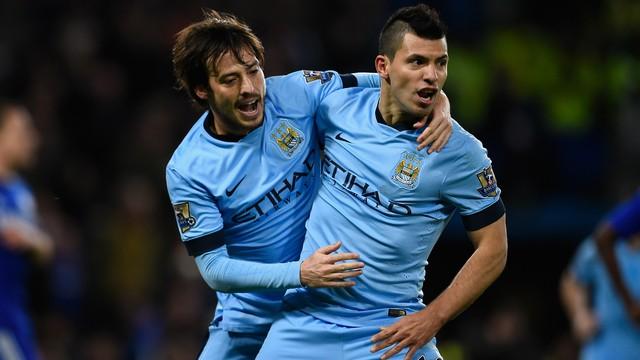 Silva và Aguero sẽ thỏa sức tung hoành khi có sự góp mặt của tân binh Sterling.