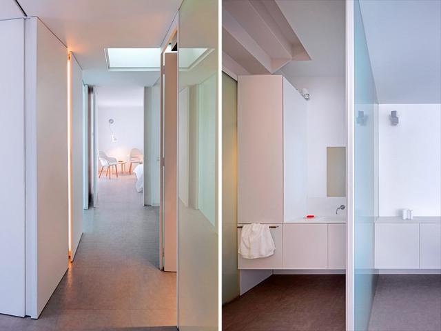 Trắng là gam màu chủ đạo trong thiết kế nội thất của ngôi nhà