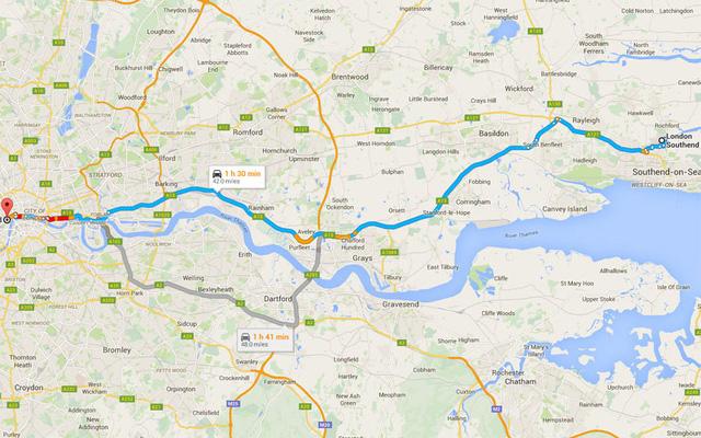 Đường ô tô từ sân bay vào trung tâm thành phố theo Bản đồ Google. Ảnh: Jaspal Bahra - Fotolia