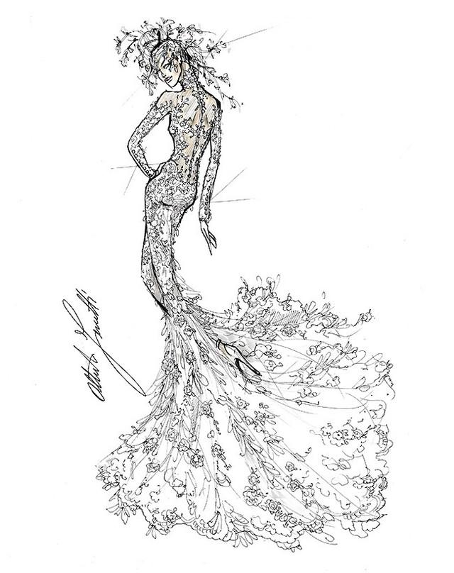 Thiết kế của Alberta Ferretti.