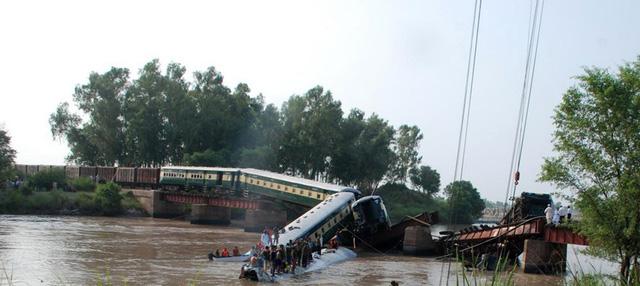 Tai nạn xảy ra khi đoàn tàu chở quân nhân cùng nhiều trang thiết bị quân sự đang trong lộ trình từ thành phố Kharian đến thành phố Pano Aqil, đi trên cây cầu bắc qua kênh đào thì bất ngờ cầu sập khiến 4 toa tàu rơi xuống kênh(Nguồn: THX/TTXVN)