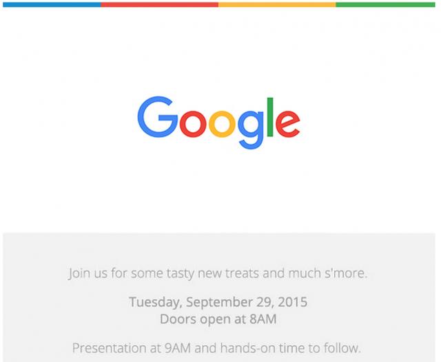 Thư mời dự kiện ngày 29/9 của Google
