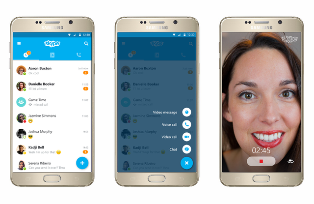 Giao diện mới của Skype trên Android