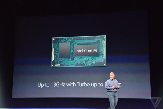 MacBook mới được trang bị bộ vi xử lý Intel Core M với tốc độ 1,3 - 2,9 GHz
