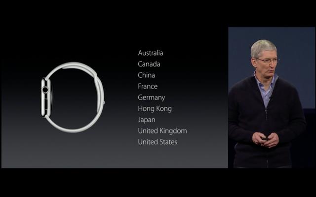 Các quốc gia phát hành Apple Watch