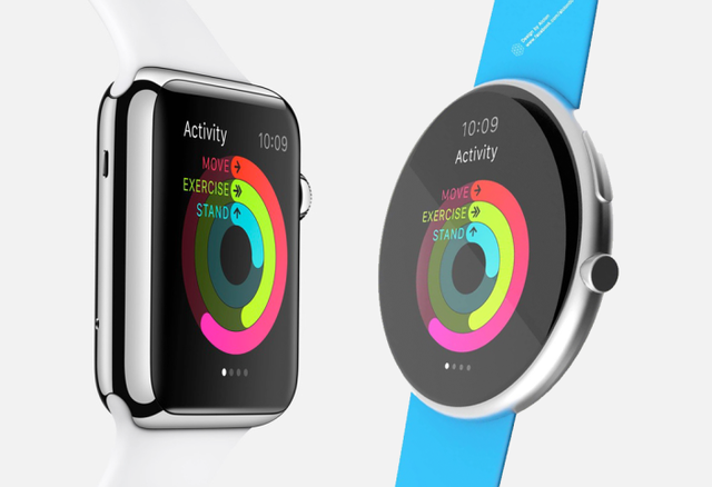 Concept phiên bản Apple Watch 2 được trang bị màn hình tròn mỏng hơn so với Apple Watch