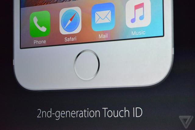 iPhone 6S và iPhone 6S Plus được tích hợp cảm biến vân tay Touch ID thế hệ thứ hai