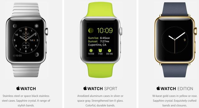 Khách hàng sẽ được thử và so sánh các phiên bản của Apple Watch