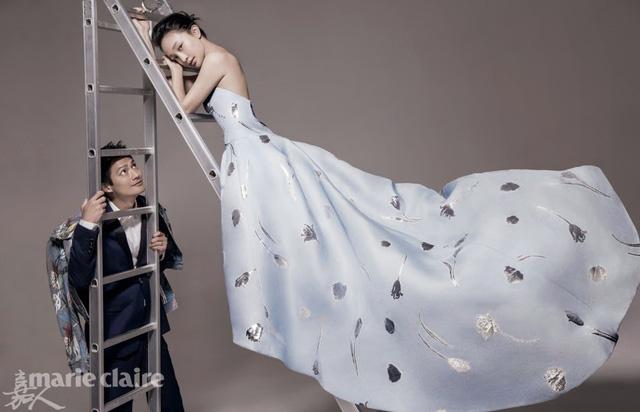 Vợ chồng Châu Tấn xuất hiện cùng nhau trên tạp chí Marie Claire