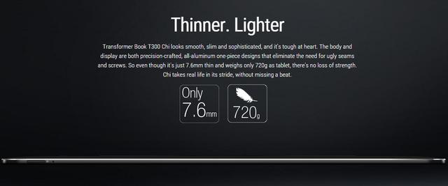 Transformer Book Chi T300: Tablet Windows mỏng nhất thế giới với chỉ 7.6mm