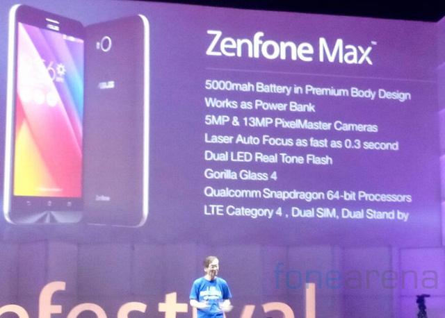 Asus ra mắt ZenFone Max tại thị trường Ấn Độ