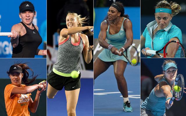 Những tay vợt nữ được đánh giá cao tại Australian Open 2015.