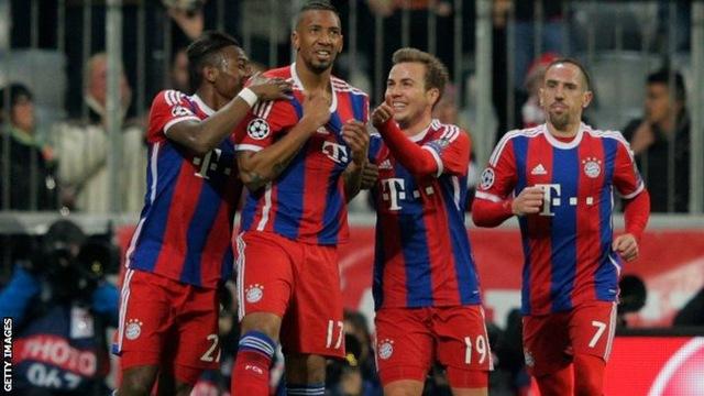 Bayern có chiến thắng 7-0 trong đó có sự tỏa sáng của Alaba, J. Boateng và Gotze.