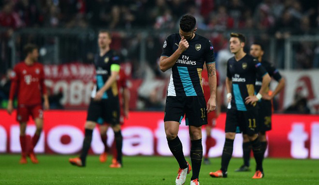 Arsenal quyết tâm vượt qua nỗi buồn ở Champions League