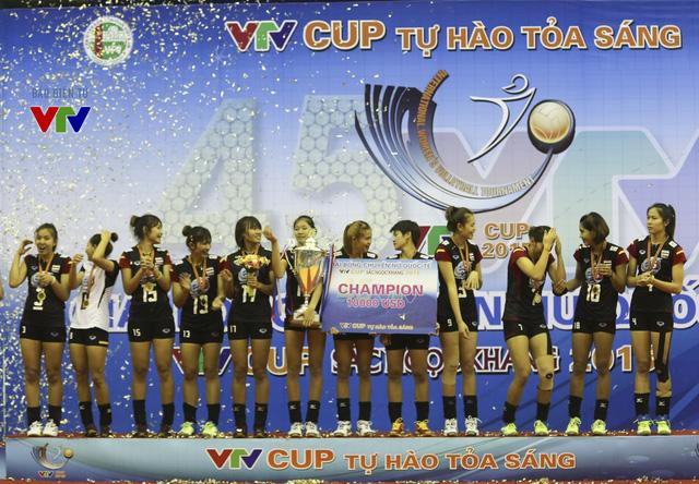 Đội U23 Thái Lan đăng quang tại VTV Cup 2015.