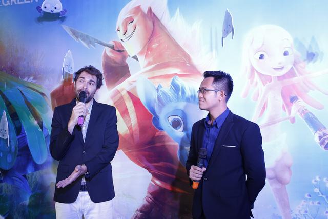 Đạo diễn Benoit Philippon trong lễ ra mắt phim ở Việt Nam vào ngày 30/8.
