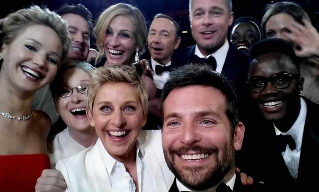 Bức ảnh selfie nổi tiếng tại lễ trao giải Oscar năm 2014.