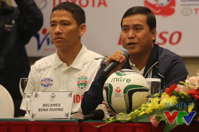 Phát biểu sau trận, HLV Nguyễn Thanh Sơn khẳng định, Bình Dương đã thi đấu nỗ lực nhưng vẫn thua vì Boeung Ket Angkor quá may mắn