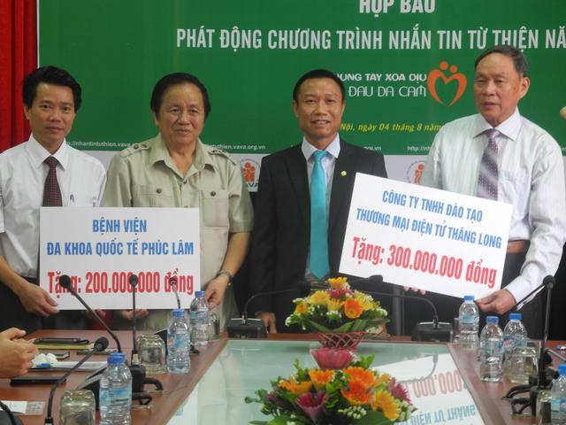 Chương trình tiếp nhận số tiền ủng hộ nạn nhân chất độc da cam