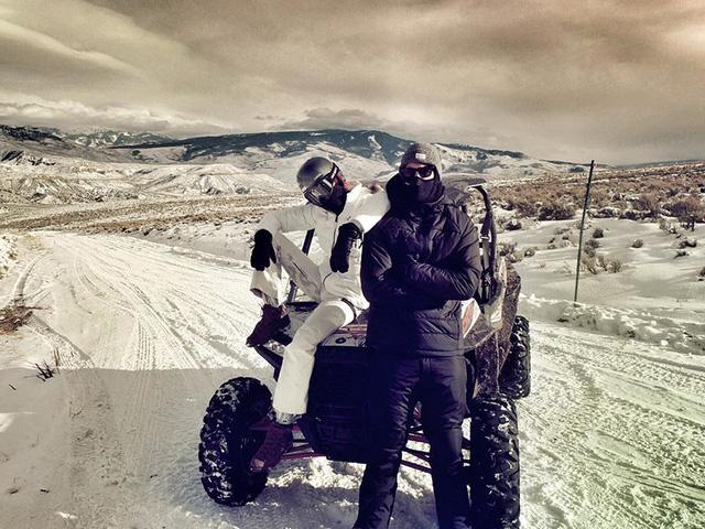 Hình ảnh Calvin Harris và Taylor Swift ở Colorado
