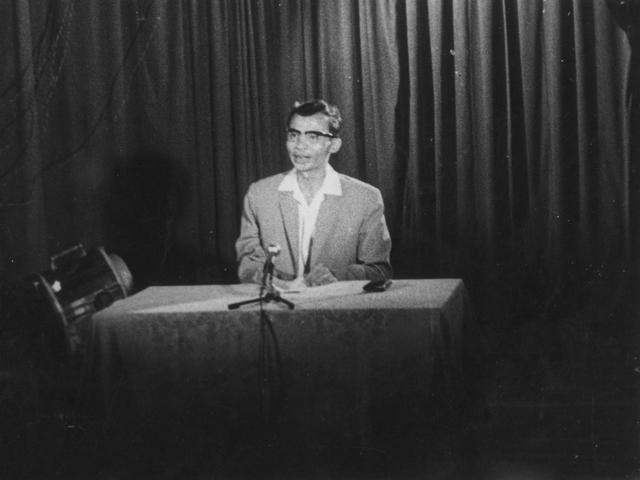 Tổng biên tập Trần Lâm phát biểu ra mắt buổi truyền hình đầu tiên