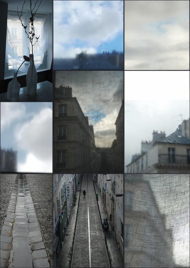 Quang cảnh đường phố ở Paris nhìn từ cửa sổ căn hộ.