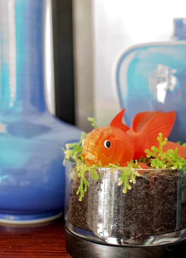 Mang phong cách biển cả nên căn phòng không thể thiếu đi hình ảnh của loài cá.