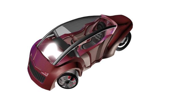 Mẫu 55 trông như một chiếc xe 3 bánh dành cho 1 người lái