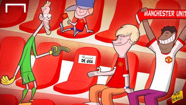 Thủ thành người Tây Ban Nha đã có một chỗ ngồi cứng trên khán đài sân Old Trafford thay vì một vị trí trong khung gỗ