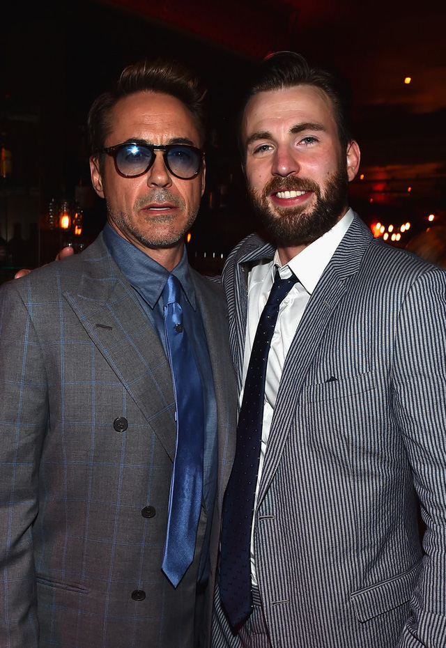 Hai quý ông lịch lãm của bộ phim: Robert Downey Jr. và Chris Evans
