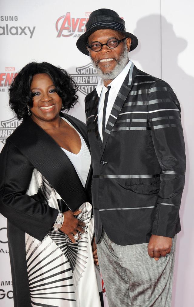 Samuel L Jackson và vợ LaTanya Richardson trong trang phục ton sur ton
