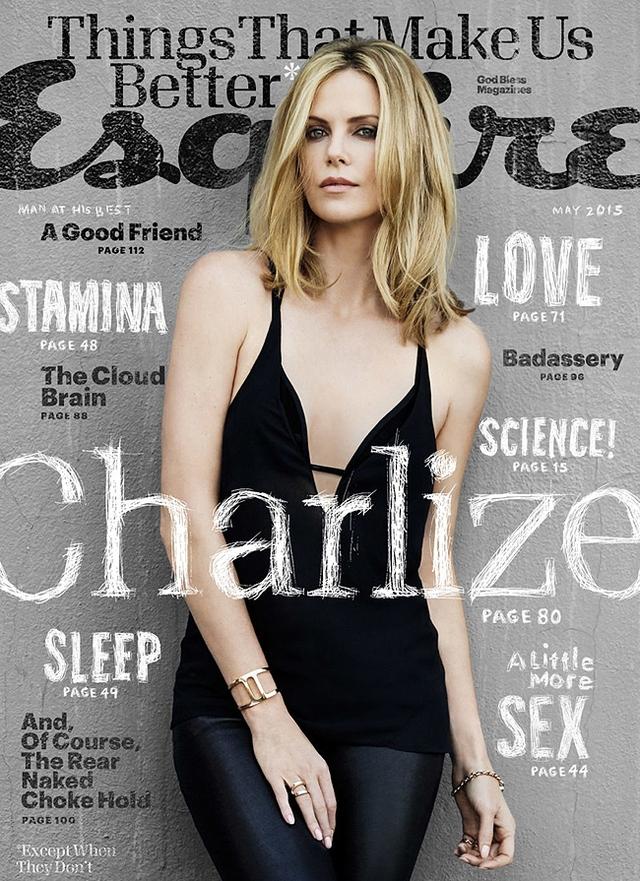 Charlize Theron trên trang bìa của Esquire.