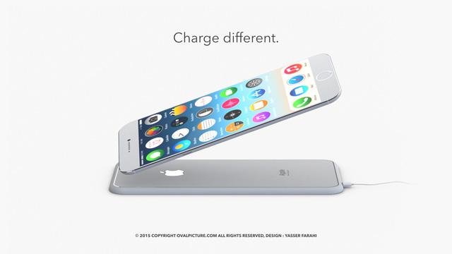 Ý tưởng iPhone 7 được trang bị tính năng sạc không dây thông qua đế sạc chuyên dụng