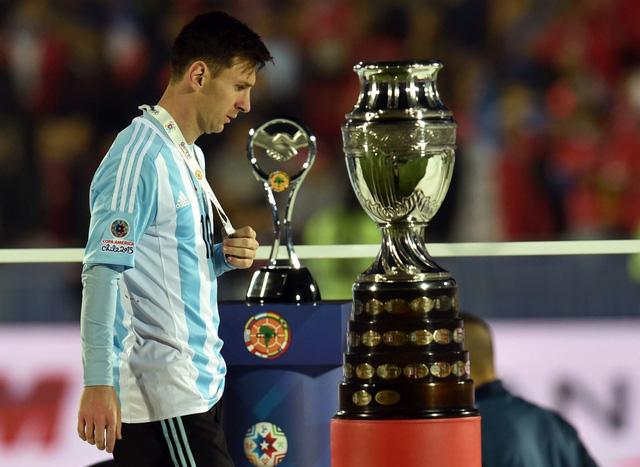 Messi chưa thể có chức vô địch ở một giải đấu lớn cùng đội tuyển Argentina