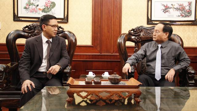 Diễn viên Phạm Cường (trái) và Tiến Đạt.