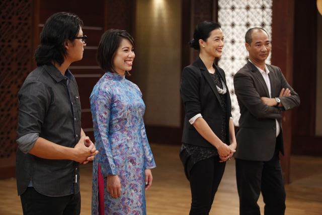 Christine Hà trong chương trình Vua đầu bếp mùa 2.