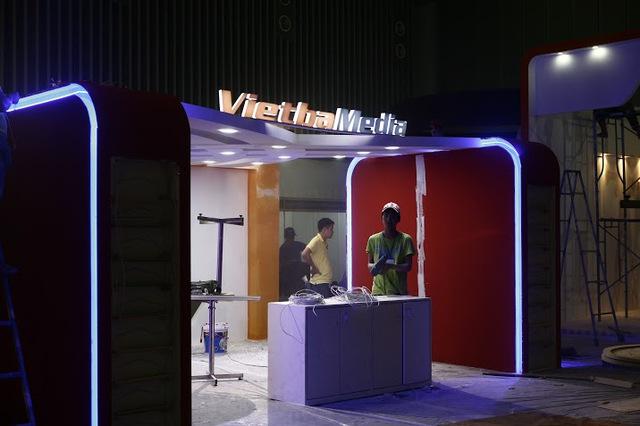 Gian hàng của nhiều đơn vị truyền hình trong nước sẽ là nơi trưng bày và giới thiệu sản phẩm, dịch vụ với khán giả.